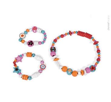 Zestaw do tworzenia biżuterii 250 koralików Dziewczynka - Janod