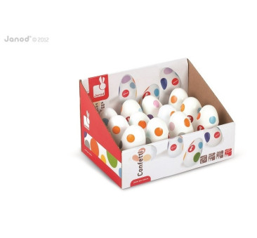 Marakas jajko - marakasy Confetti - Janod