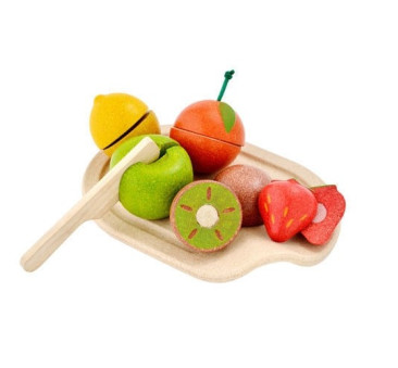 Owoce z deską do krojenia - Plan Toys - Montessori