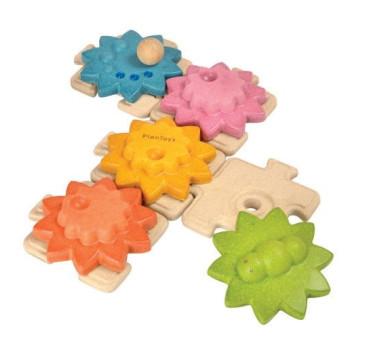 Puzzle koła zębate standard - Plan Toys - Montessori