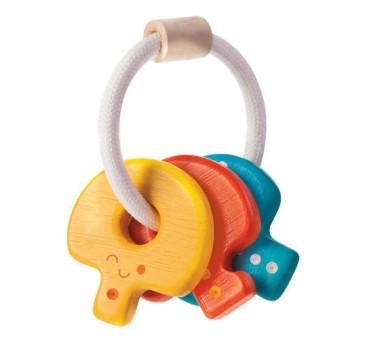 Drewniana grzechotka klucze - Plan Toys - Montessori