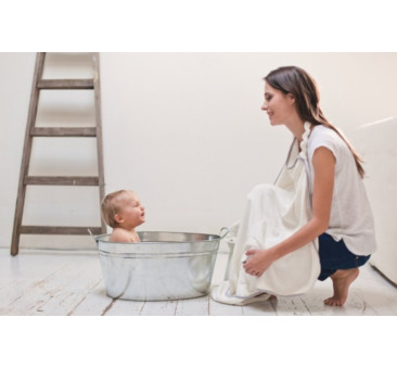 Ręcznik bambusowy + szlafrok - kolor biały, kolor lamówki szara - 130? 75 cm - Poofi