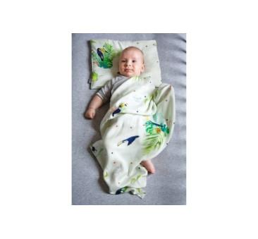 Jasiek dla niemowląt - tropical - tukany - 35? 25 cm - Poofi