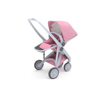 Wózek Greentom Upp Reversible - white - pink / biało - różowy