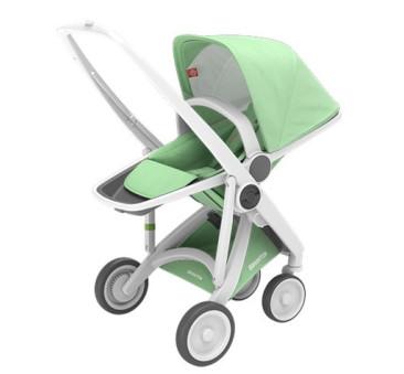 Wózek Greentom Upp Reversible - white - mint / biało - miętowy