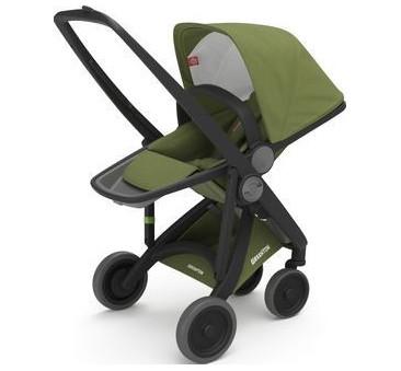 Wózek Greentom Upp Reversible - black - olive/ czarno - oliwkowy