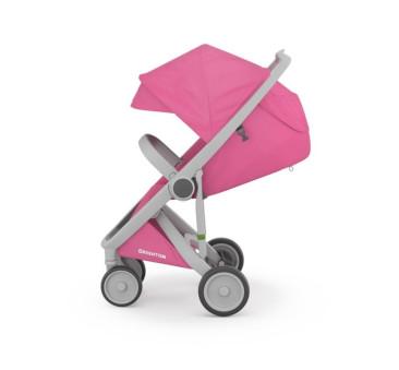 Wózek Greentom Upp Classic - grey - pink / szaro - różowy
