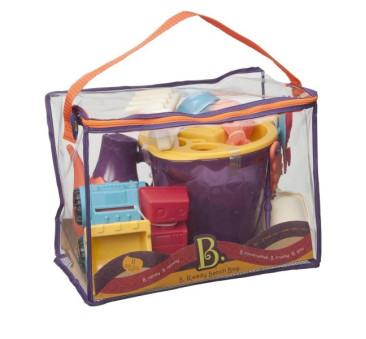 Zestaw akcesoriów plażowych w torbie - wersja pomarańczowa - B.Ready Beach Bag - BTOYS