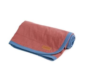 Bawełniany kocyk organic ( kolor: bordo) - 90x90 cm - Poofi