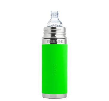 Termobutelka z ustnikiem niekapkiem - zielona - Pura Kiki
