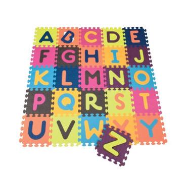 Mata piankowa z 26 kolorowymi puzzlami - alfabet - BTOYS