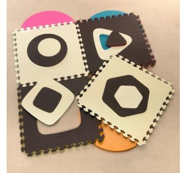 Puzzle piankowe - podwójnie wyjmowane środki - szafir- BTOYS