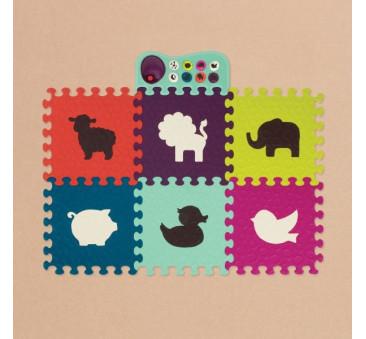 Puzzle piankowe z muzyką - 13 elementów - kolorowe - BTOYS