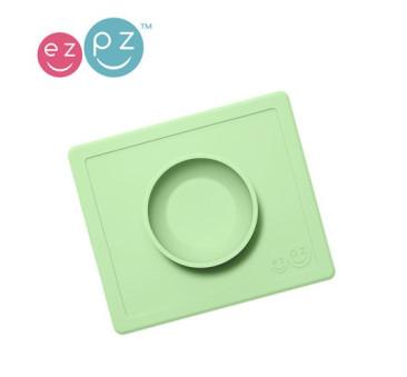 Silikonowa miseczka z podkładką 2w1 Happy Bowl pastelowa zieleń -EZPZ