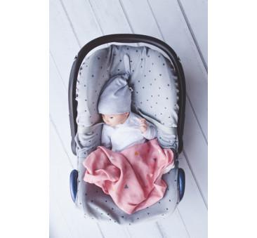 Uniwersalny pokrowiec na fotelik samochodowy 0-12 miesięcy - Pink No More