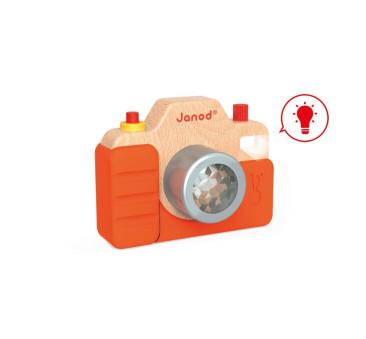 Drewniany aparat fotograficzny z dźwiękami - Janod - Montessori