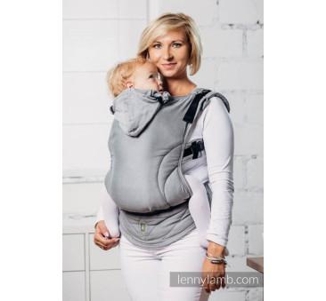 Moje drugie nosidełko ergonomiczne - KALCYT, splot satynowy , Toddler size, Druga Generacja - LennyLamb