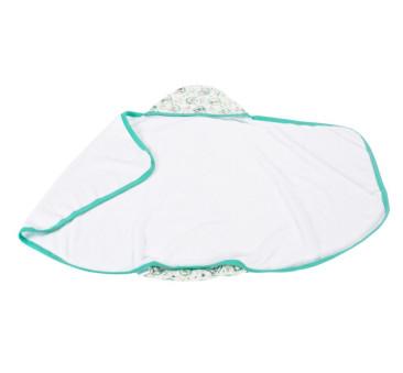 Ręcznik z kapturkiem - sowy - zielona lamówka - Poofi - 85? 85 cm