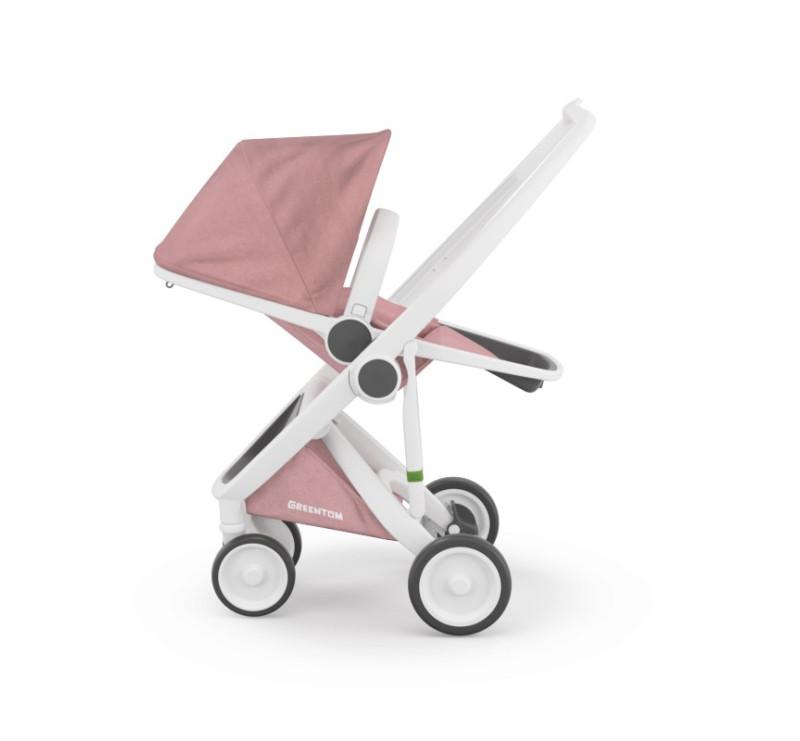 Wózek Greentom Upp Reversible - white - rose / biało - pudrowy róż - edycja limitowana 2017