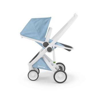 Wózek Greentom Upp Reversible - white - sky / biało - błękitny - edycja limitowana 2017