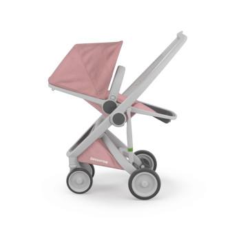 Wózek Greentom Upp Reversible - grey - rose / szaro - pudrowy róż - edycja limitowana 2017