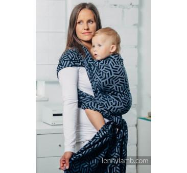 Moja druga chusta do noszenia dzieci - KYANIT, splot żakardowy - Rozmiar M - LennyLamb