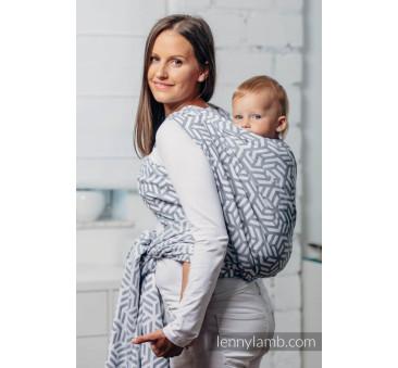 Moja druga chusta do noszenia dzieci - PERŁA, splot żakardowy - Rozmiar M (4,6 metra) - LennyLamb