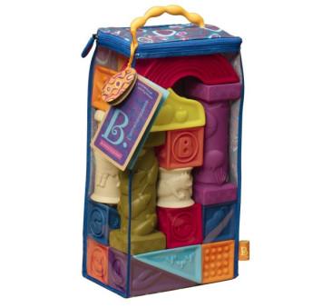 Bezpieczne klocki miękkie dla niemowląt - Elemenosqueeze - zestaw duży- BTOYS