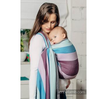 Chusta do noszenia dzieci,tkana splotem diamentowym, bawełna, ISLANDZKI DIAMENT - Rozmiar M LennyLamb