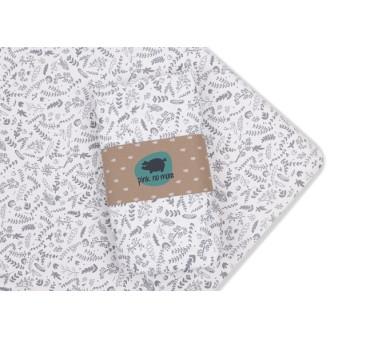 Prześcieradło z gumką do łóżeczka Pink No More - 60 x 120 cm - wzór botanic
