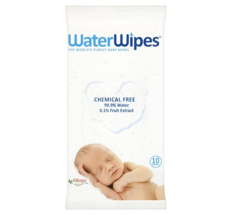 WaterWipes - chusteczki nasączane czystą wodą - 10 szt