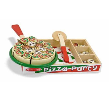 Drewniana pizza do krojenia - Melissa & Doug - Montessori