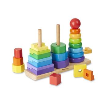 Układanka Geometryczna Piramida Sortuj i Dopasuj - Melissa & Doug - Montessori