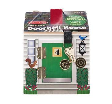 WYPRZEDAŻ Drewniany Domek Dźwiękowy z Zamkami i Kluczami - Melissa & Doug - Montessori