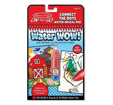 Malowanie wodą - Water Wow! - znikające kolory - kolorowanka farma połącz kropki - Melissa & Doug