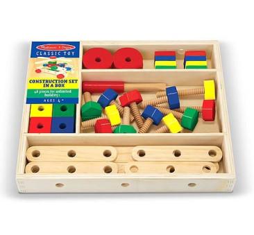 Drewniane klocki konstrukcyjne - Melissa & Doug - Montessori