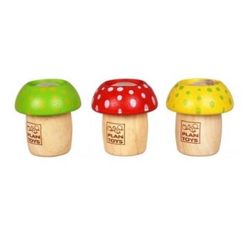Drewniany kalejdoskop Grzybek - Plan Toys - Montessori