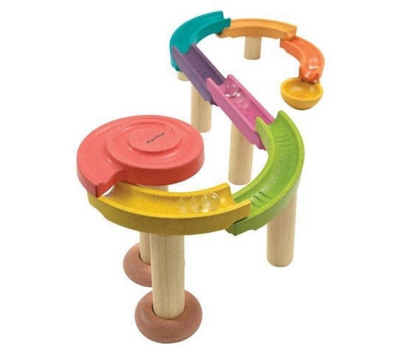 Drewniany kolorowy tor kulkowy standard - Plan Toys
