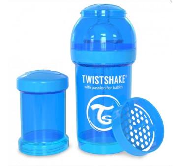 Antykolkowa butelka do karmienia, niebieska 180ml - Twistshake