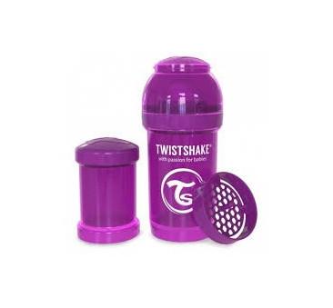 Antykolkowa butelka do karmienia, fioletowa 180ml - Twistshake