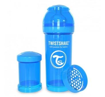 Antykolkowa butelka do karmienia, niebieska 260ml - Twistshake