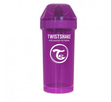 Kubek niekapek z mikserem do owoców, fioletowy 360ml - Twistshake