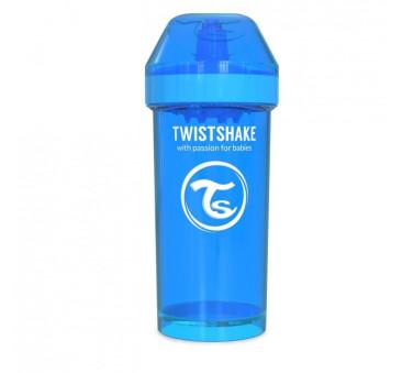 Kubek niekapek z mikserem do owoców, niebieski 360ml - Twistshake