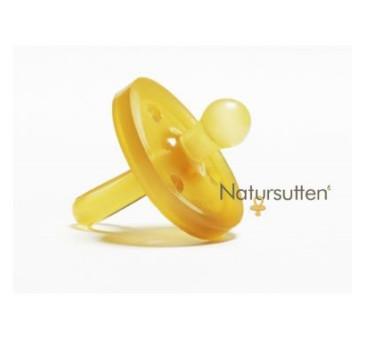 Smoczek okrągły z kauczuku naturalnego M (6-12m) - Natursutten