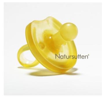 Smoczek okrągły z kauczuku naturalnego - motyl - S (0-6m) - Natursutten