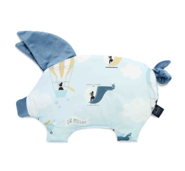 Podusia Sleepy Pig - Captain Adventure - Denim - La Millou - Velvet Collection