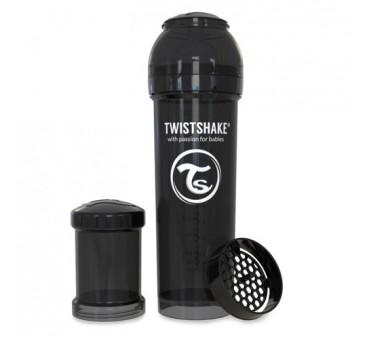 Antykolkowa butelka do karmienia, czarna 330ml - Twistshake