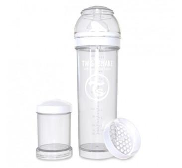 Antykolkowa butelka do karmienia, biała 330ml - Twistshake