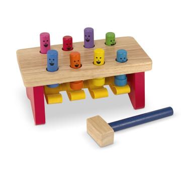 Drewniana grająca ławeczka przebijak - Melissa & Doug