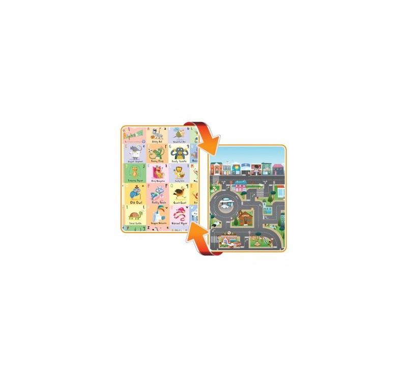 Mata dwustronna edukacyjna do zabawy - ABC - Alfabet/Miasto - Prince Lionhearts